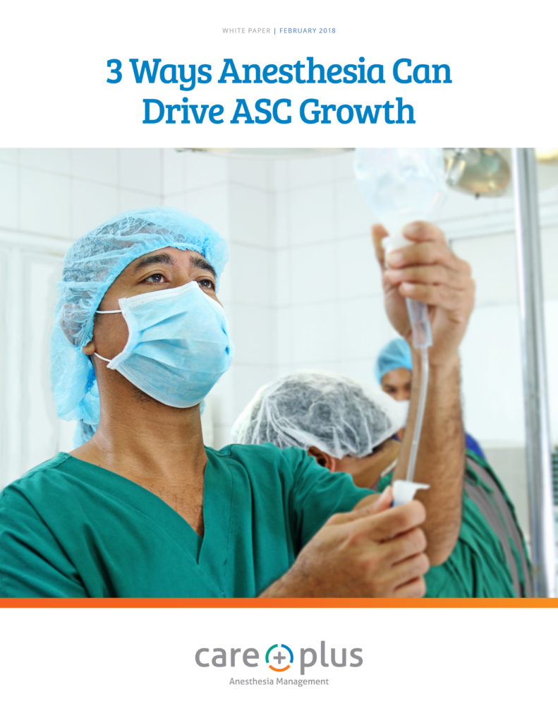 3ways anesthesia can drive asc growth